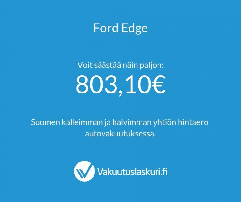 Vakuutuksen hinta - Ford Edge