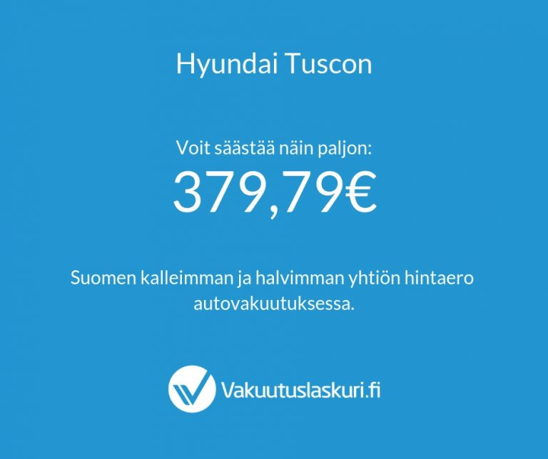 Vakuutuksen hinta - Hyundai Tuscon