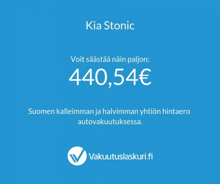 Vakuutuksen hinta - Kia Stonic