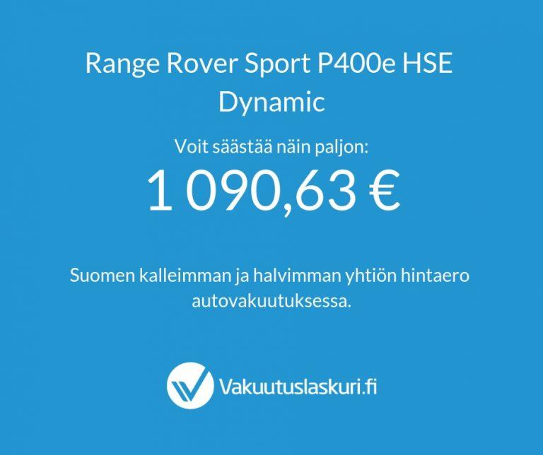 Vakuutuksen hinta - Range Rover P400e
