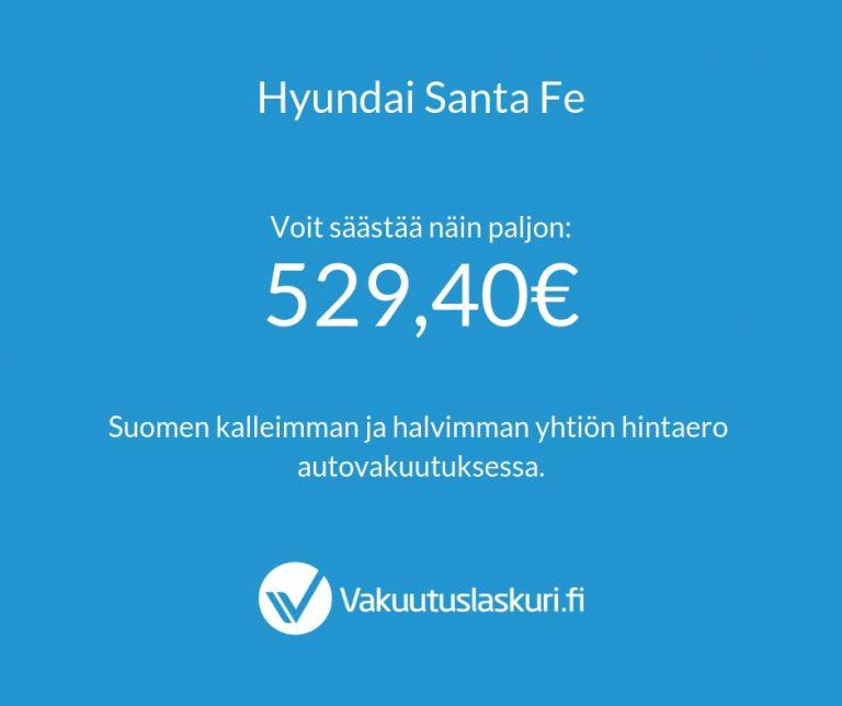 Vakuutuksen hinta - Hyundai Santa Fe