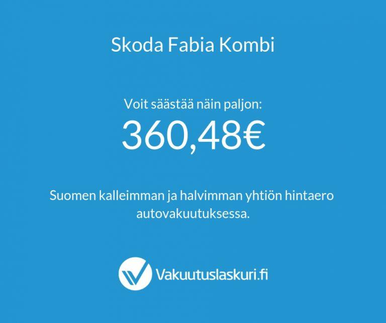 Vakuutuksen hinta - Skoda Fabia