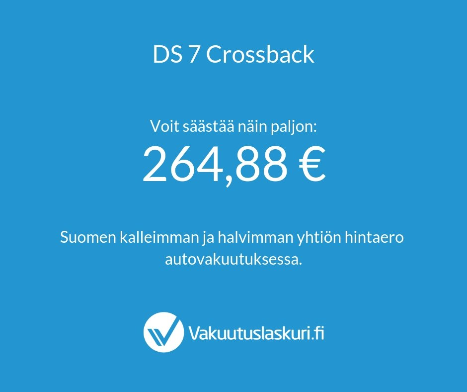 Vakuutuksen hinta - DS 7