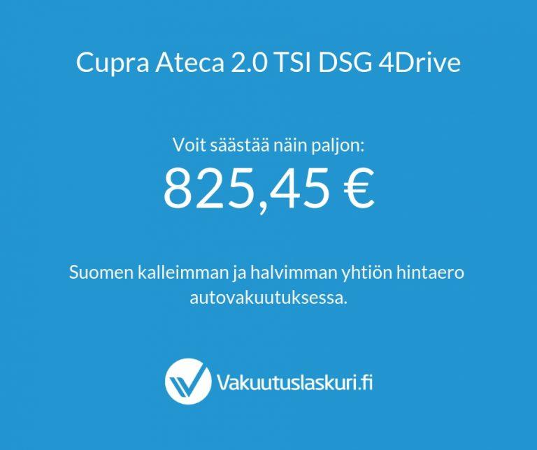 Vakuutuksen hinta - Cupra Ateca