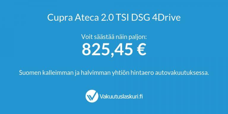 Vakuutuksen hinta - Cupra Ateca 2.0