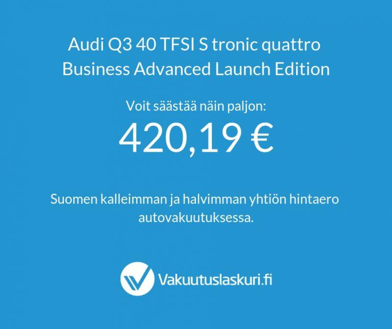 Vakuutuksen hinta -Audi Q3