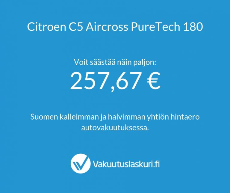 Vakuutuksen hinta - Citroen C5 Aircross