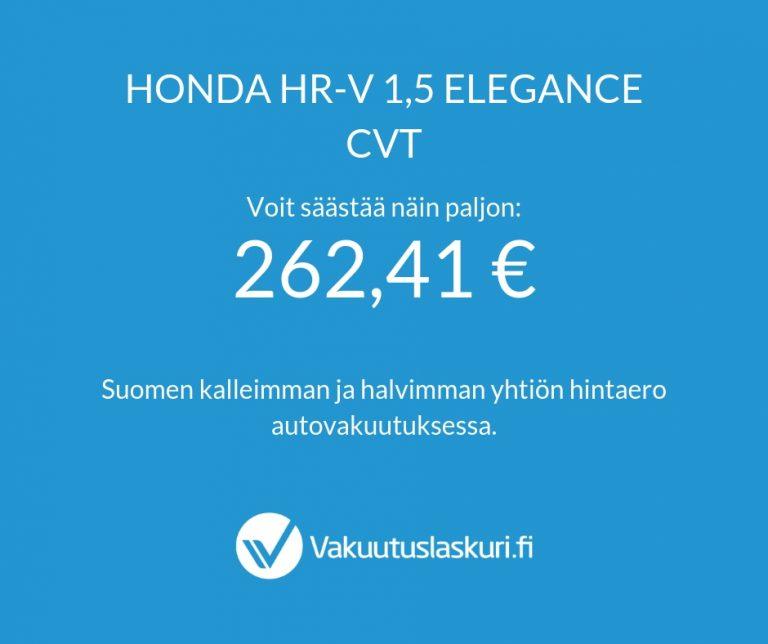Vakuutuksen hinta - Honda HR-V