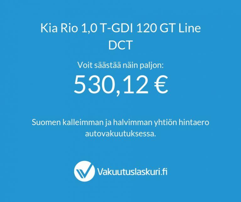 Vakuutuksen hinta - Kia Rio
