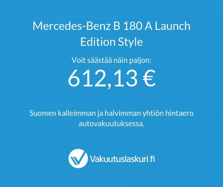 Vakuutuksen hinta - Mercedes-Benz B 180