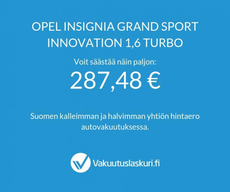 Vakuutuksen hinta - Opel Insignia Grand Sport