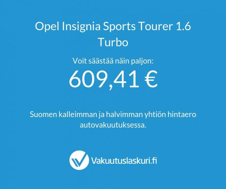 Vakuutuksen hinta - Opel Insignia Sport Tourer