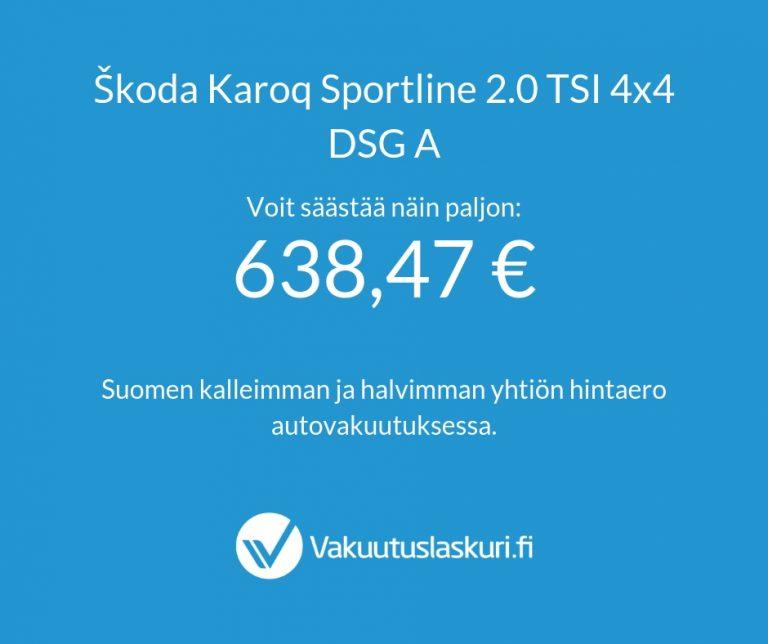 Vakuutuksen hinta - Skoda Karoq