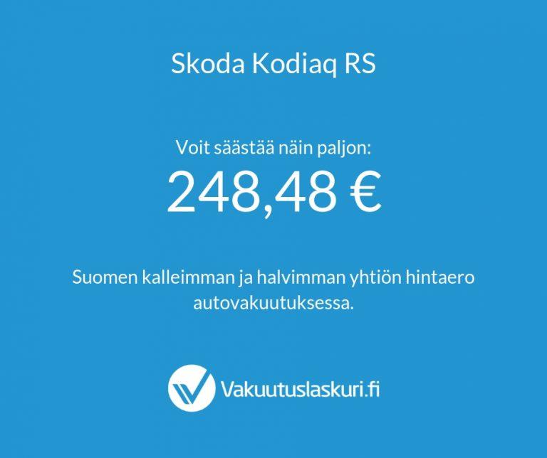 Vakuutuksen hinta - Skoda Kodiaq RS