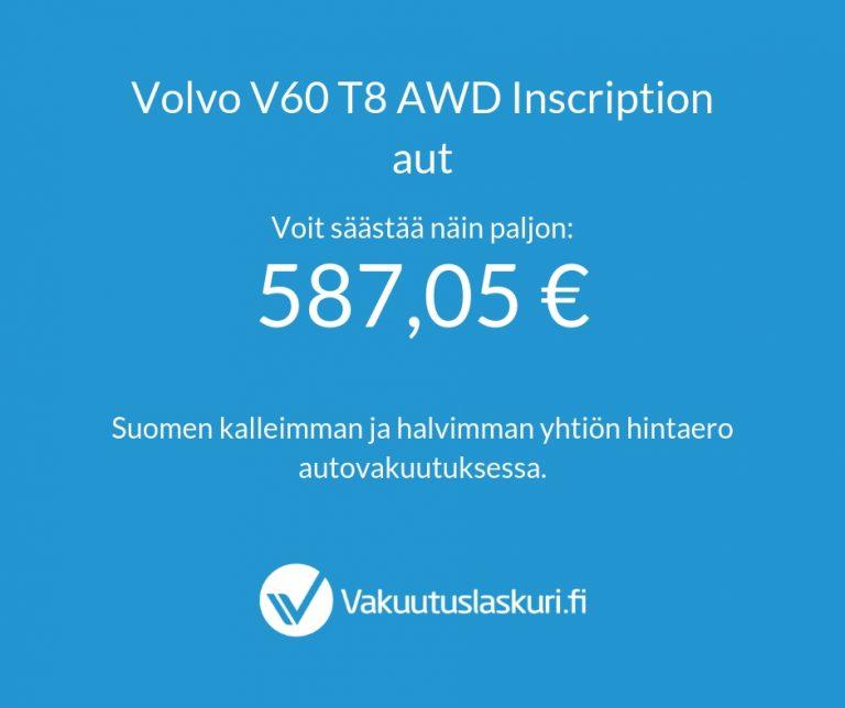 Vakuutuksen hinta - Volvo V60 T8