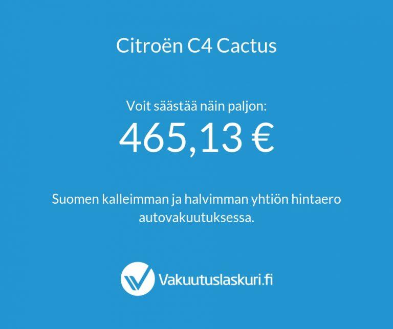 Vakuutuksen hinta - Citroen C4 Cactus