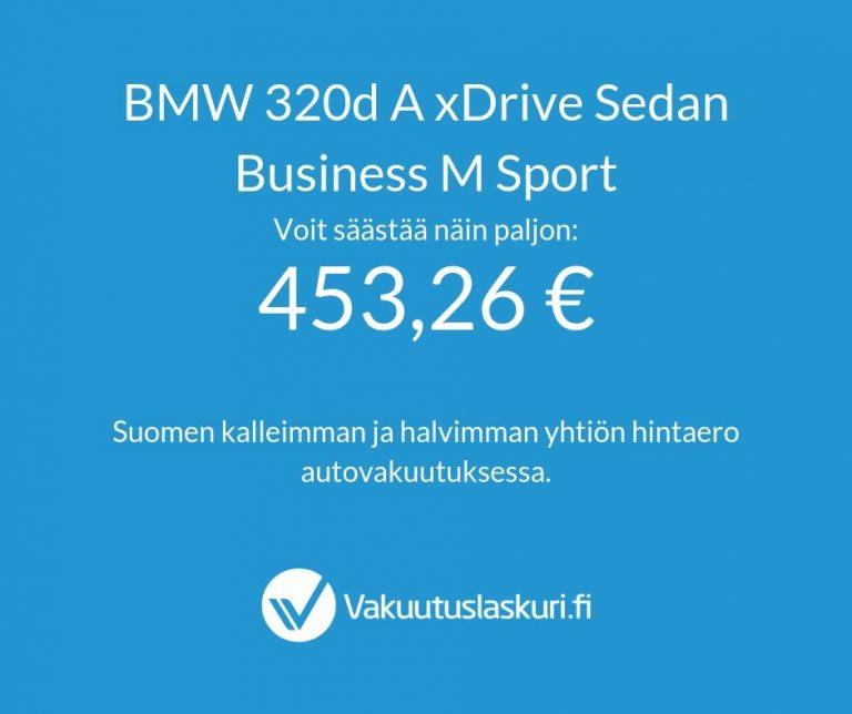 Vakuutuksen hinta - BWM 320d A xDrive