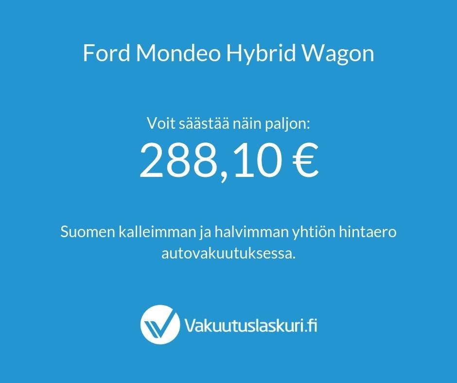 Vakuutuksen hinta - Ford Mondeo Hybrid Wagon