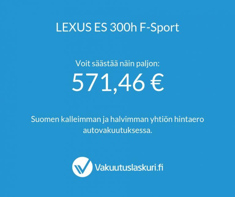 Vakuutuksen hinta - Lexus ES 300h