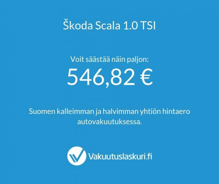 Vakuutuksen hinta - Škoda Scala