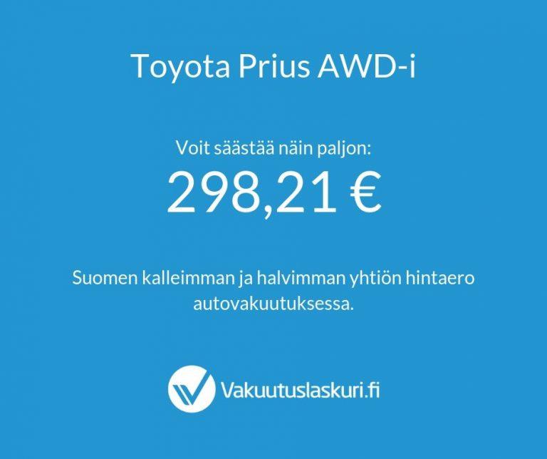 Vakuutuksen hinta - Toyota Prius AWD-i