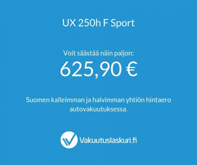 Vakuutuksen hinta - Lexus UX 250h