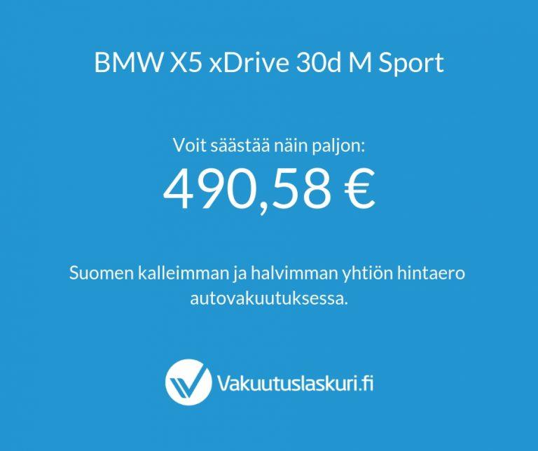 Vakuutuksen hinta - BMW X5 xDrive