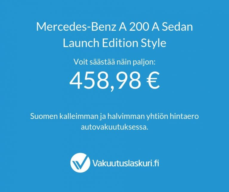 Mercedes-Benz A 200 A Sedan Launch Edition Style