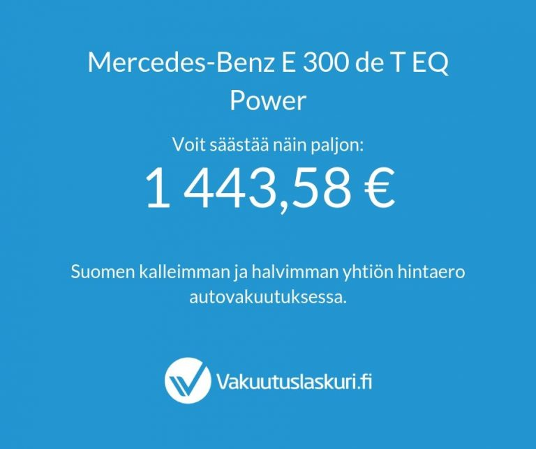 Mercedes-Benz E 300 de T EQ Power
